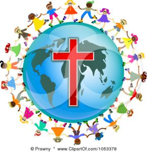 Free-Clip-Art-Illustration-Of-A-Christian-Kids-Holding-Hands-Around-A-Globe-With-A-Cross